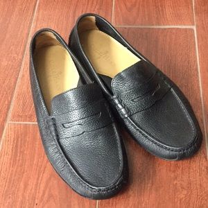Cole haan mens 8.5 black leather driving moccasin